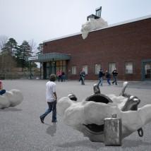 skulpturgrupp Dagdrömmar, fotomontage. © Foto: Frida Rydblom 2015